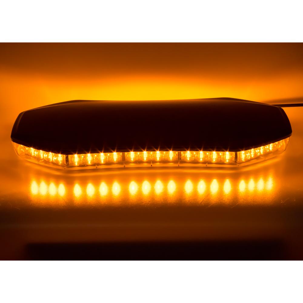 LED rampa 398mm, oranžová, magnet, 12-24V, ECE R65