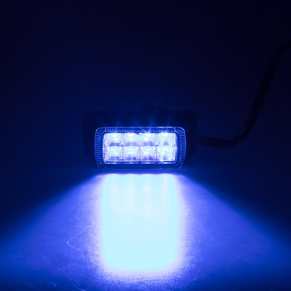 PROFI výstražné LED světlo vnější, modré, 12-24V, ECE R65