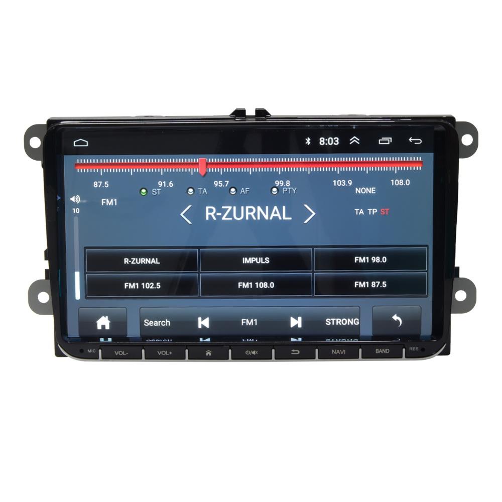 "Autorádio pro VW, Škoda s 9"" LCD, Android 8.1, WI-FI, GPS, Mirror link, Bluetooth, 2x USB"
