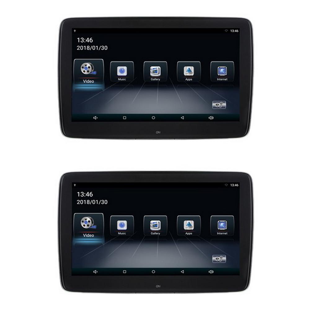 """Set LCD monitorů 11,6"""" OS Android/USB/SD s držákem na opěrku pro Mercedes-Benz"""
