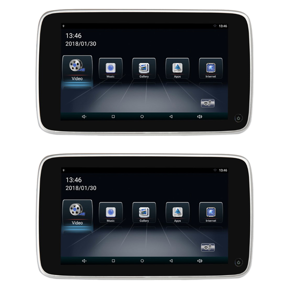 """Set LCD monitorů 10,8"""" OS Android/USB/SD s držákem na opěrku pro BMW"""