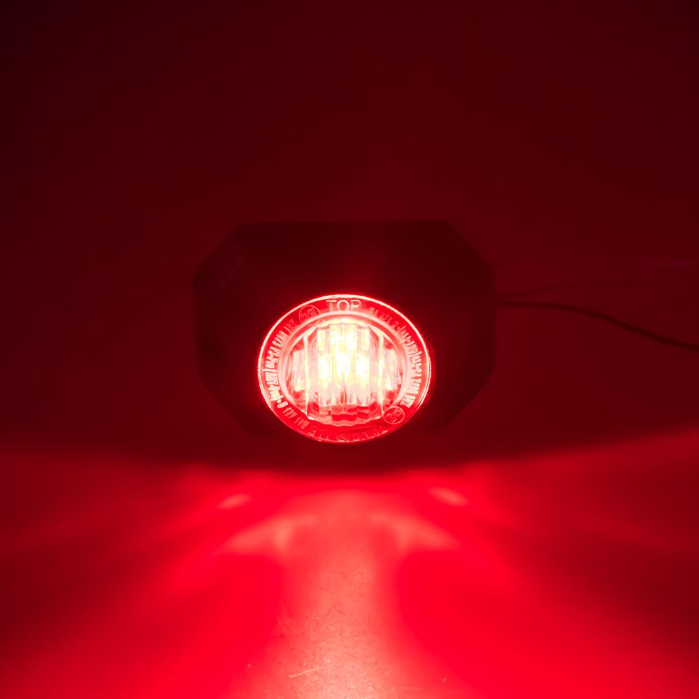 PROFI výstražné LED světlo vnější, 12-24V, červené