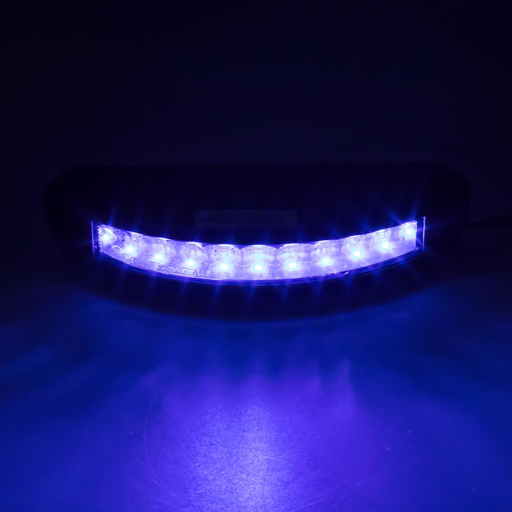 PROFI výstražné LED světlo vnější, modré, 12-24V, ECE R10