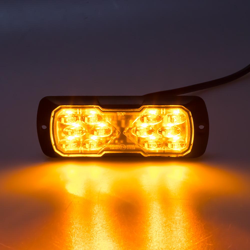 PROFI LED výstražné světlo 12-24V 11,5W oranžové ECE R65 114x44mm