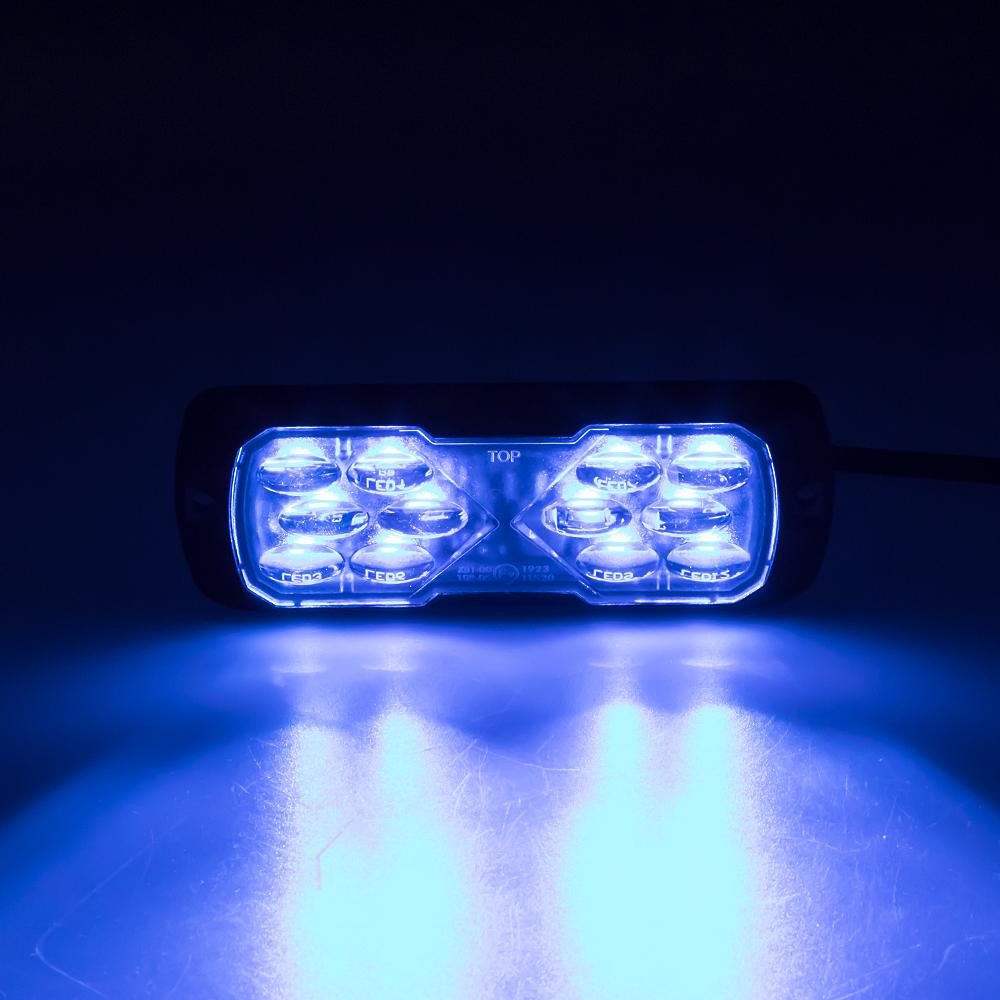 PROFI LED výstražné světlo 12-24V 11,5W modré ECE R65 114x44mm
