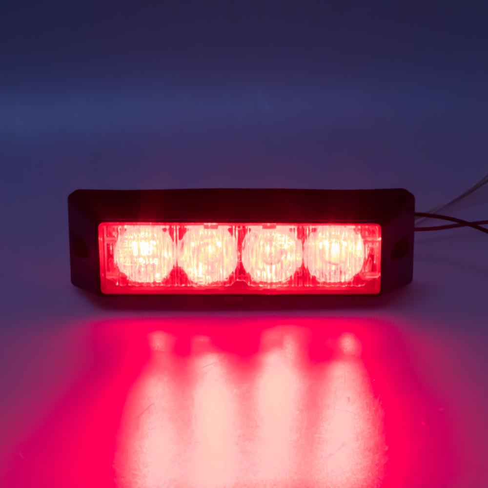 x PROFI výstražné LED světlo vnější, 12-24V, červené