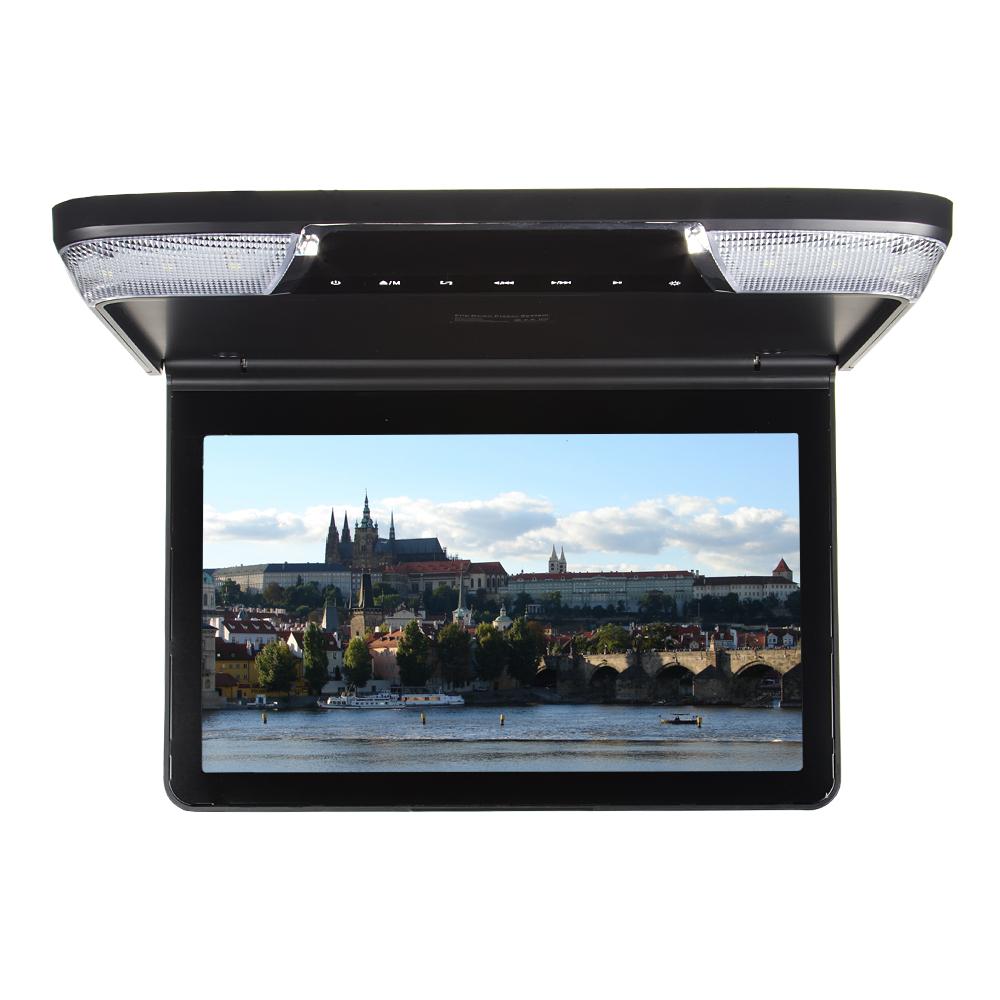 """Stropní monitor 11,6"""" černý s DVD/SD/USB/IR/FM"""