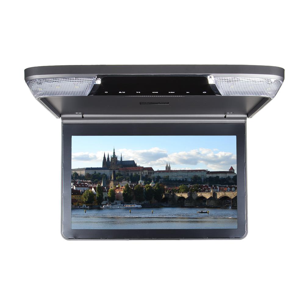 """Stropní monitor 11,6"""" šedý s DVD/SD/USB/IR/FM"""