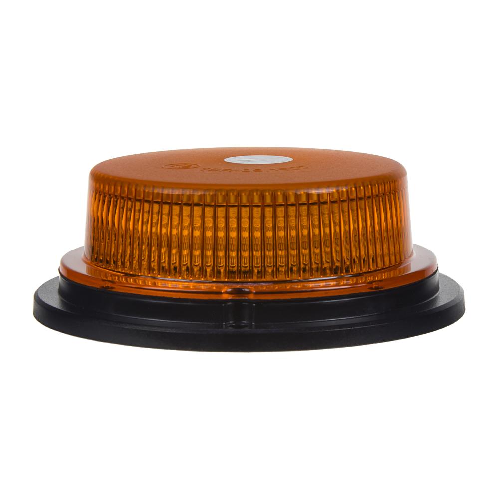 LED maják, 12-24V, 18x1W oranžový, pevná montáž, ECE R10