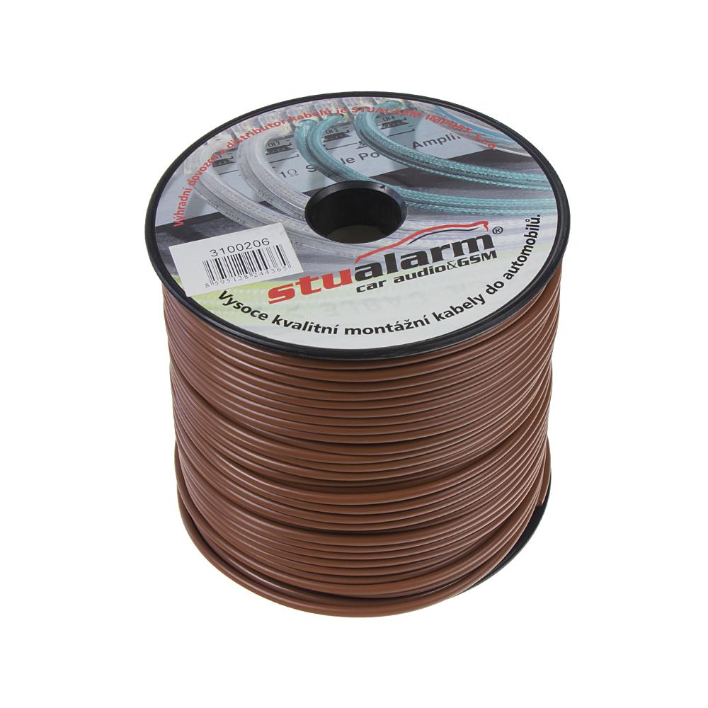 Kabel 1,5 mm, hnědý, 100 m bal