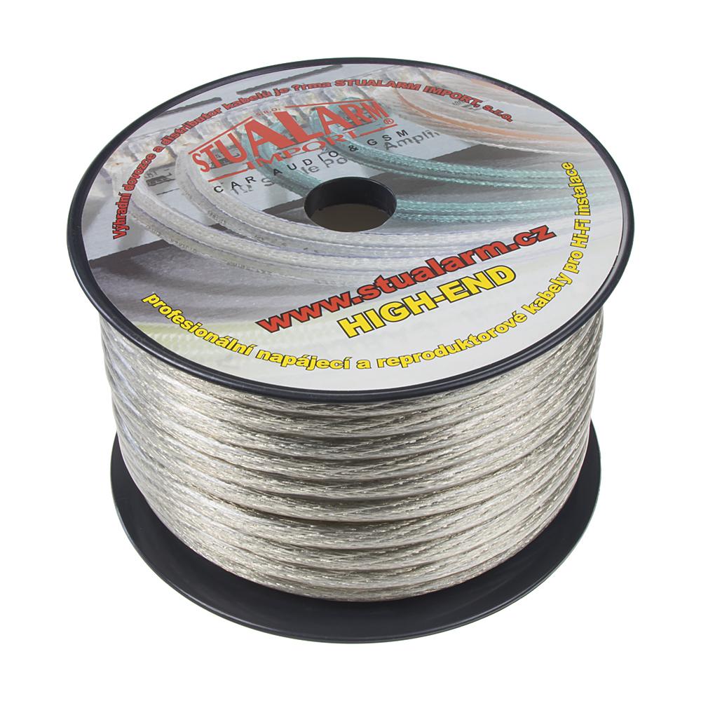 Kabel 20 mm, stříbrně transparentní, 25 m bal