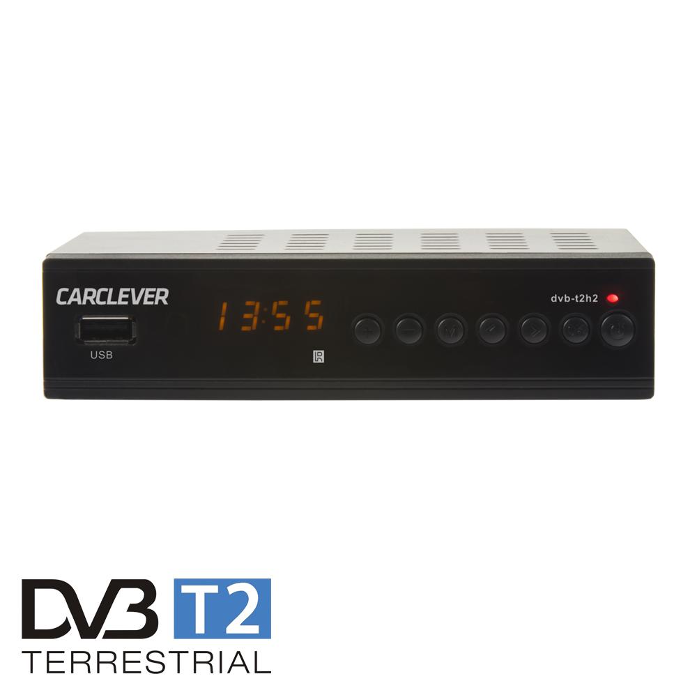 DVB-T2 / HEVC / H.265 set-top box / multimediální přehrávač s USB / SCART / HDMI / RJ45 / PWR