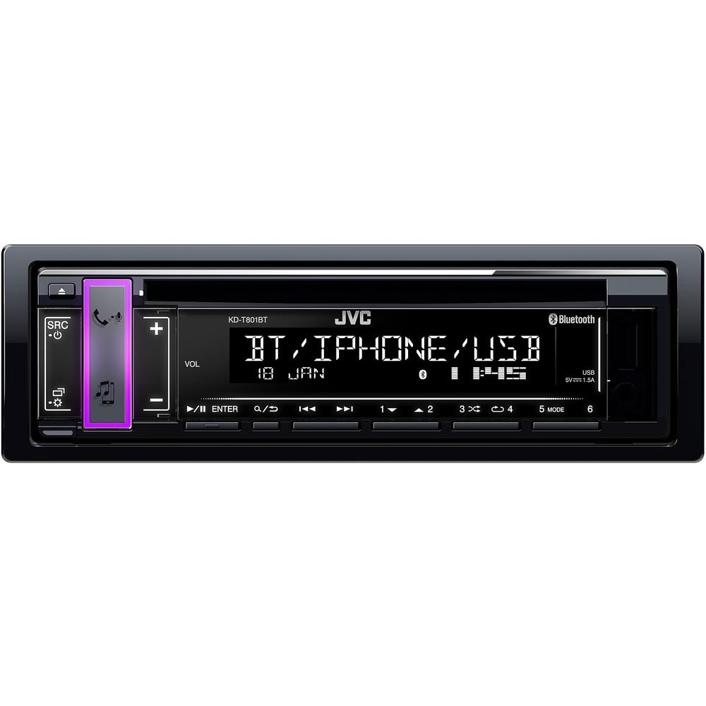 JVC autorádio s CD/MP3/USB/AUX/Bluetooth připojení/bílé podsvícení/odním.panel