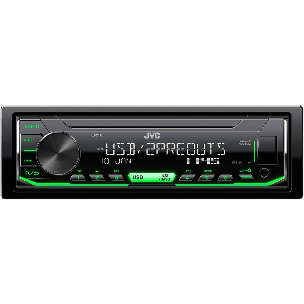JVC autorádio bez mechaniky/USB/AUX/multicolor podsvícení/odnímatelný panel