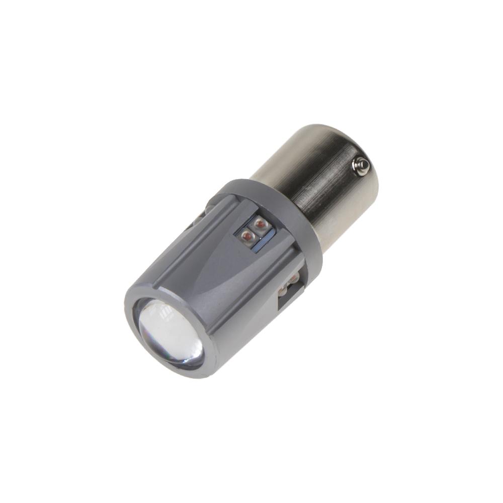 LED BA15S 12-24V, 60W (12x5W) oranžová