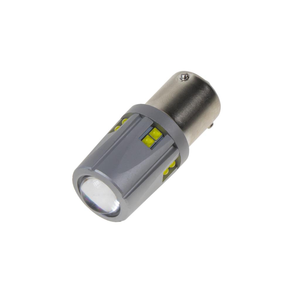 LED BAU15S 12-24V, 60W (12x5W) bílá
