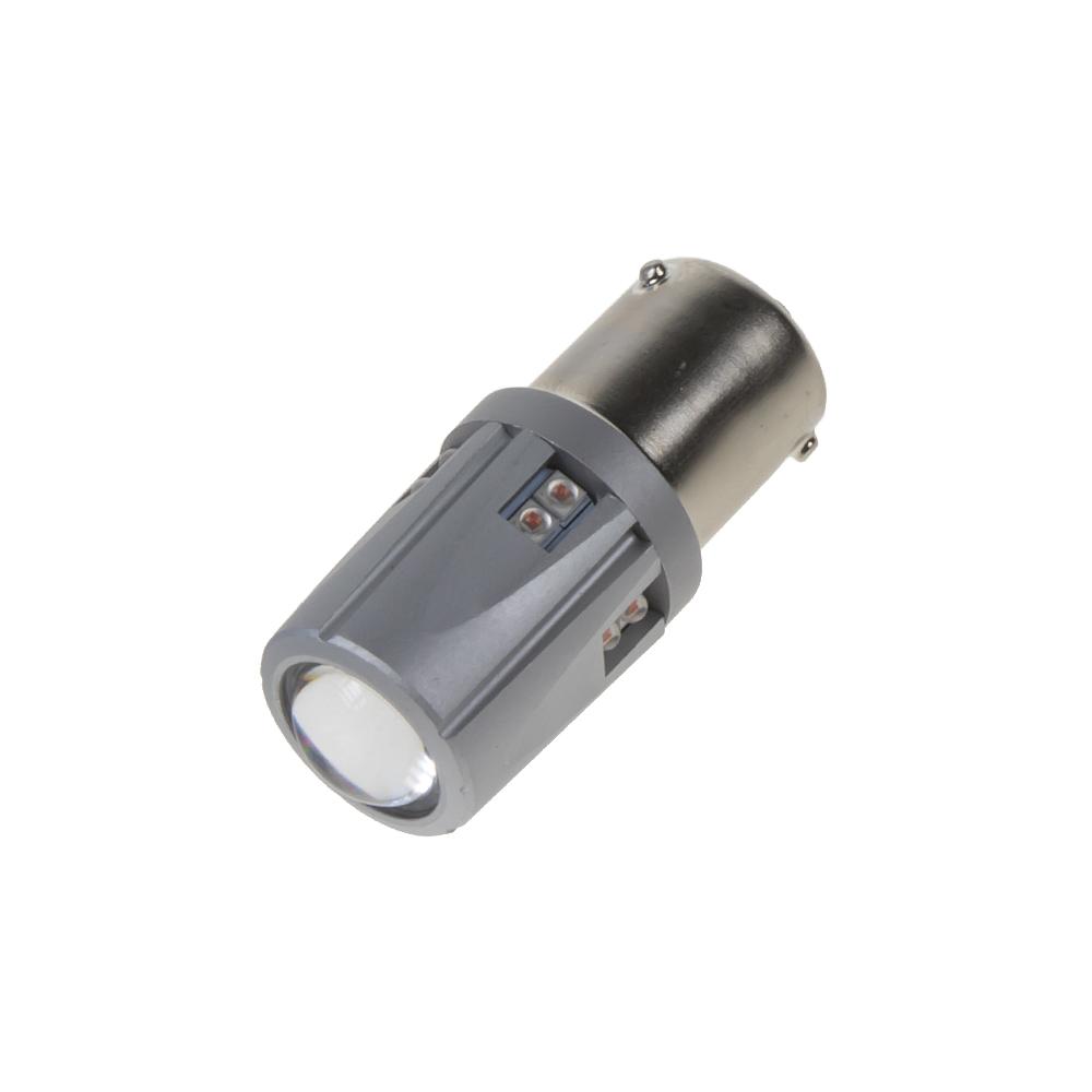 LED BAU15S 12-24V, 60W (12x5W) oranžová