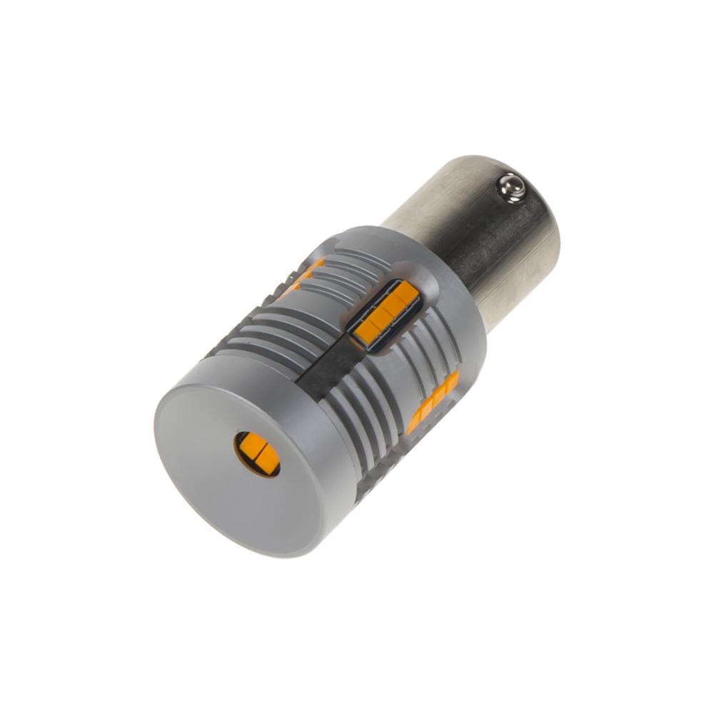 LED BA15s oranžová, 12-24V, 24LED/1W