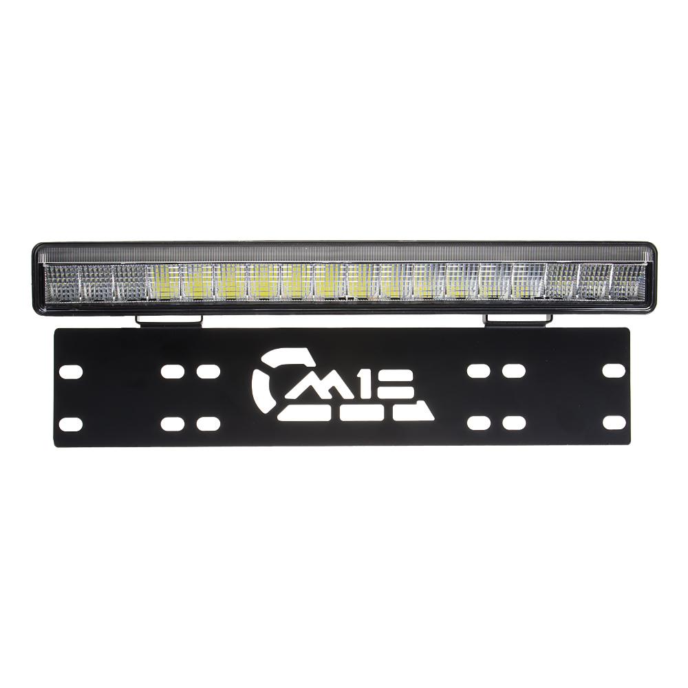 LED rampa s pozičním světlem pod SPZ, 18x3W, 380mm, ECE R112