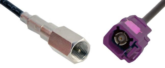 Anténní adaptér FAKRA samice GSM/samec FME, kabel 15 cm