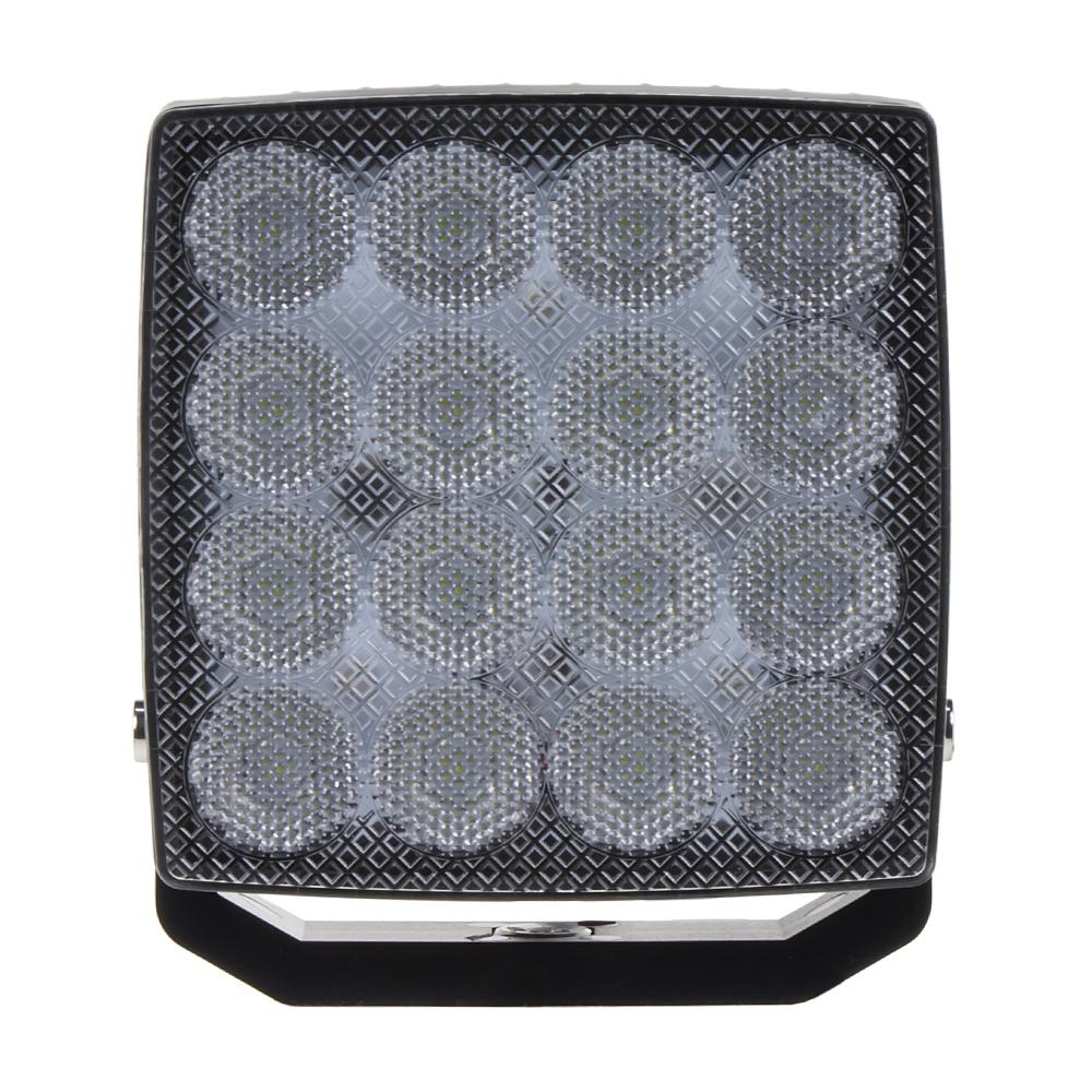 LED světlo čtvercové, 16x3W, 110x110mm, ECE R10