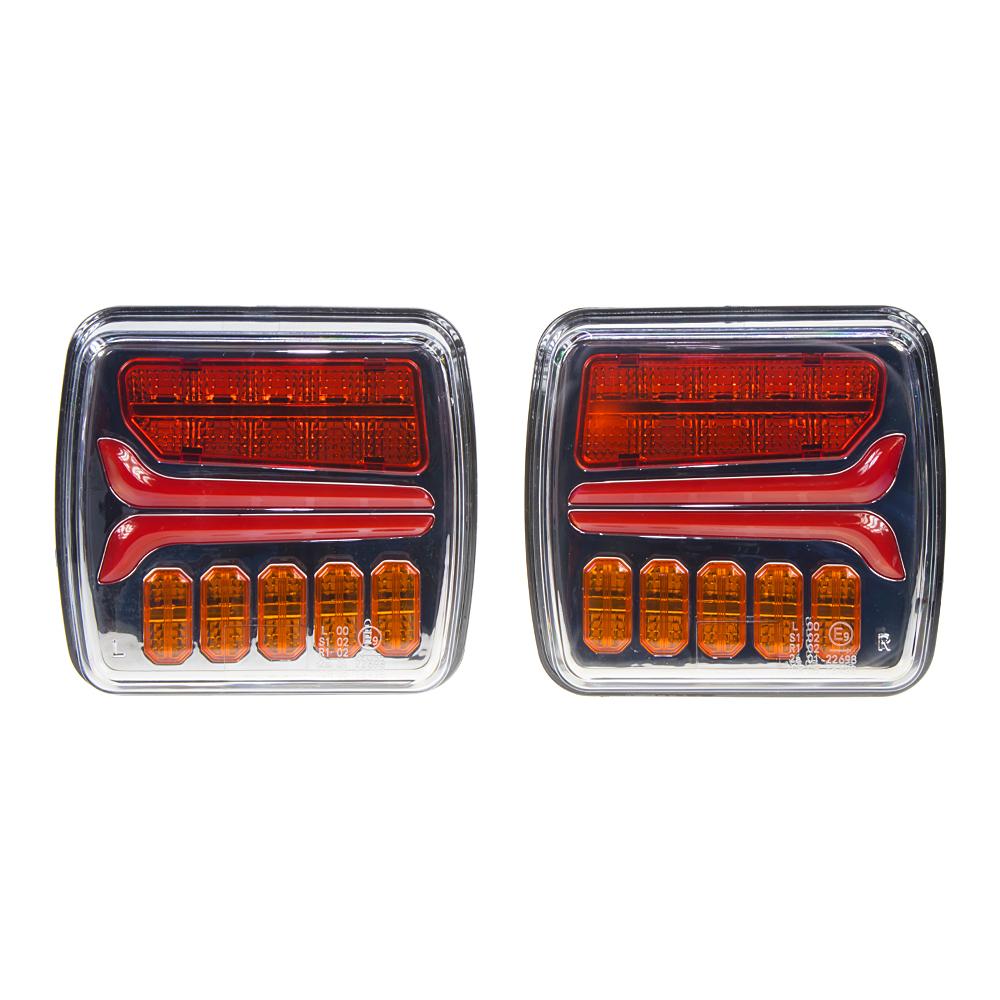 Sdružená LED lampa zadní s dynamickými blinkry 12/24V