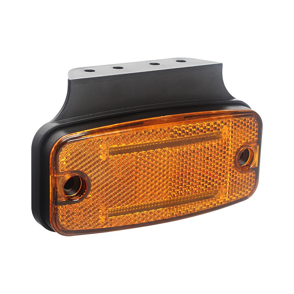 Boční obrysové světlo LED, oranžový obdélník, ECE R3, R91