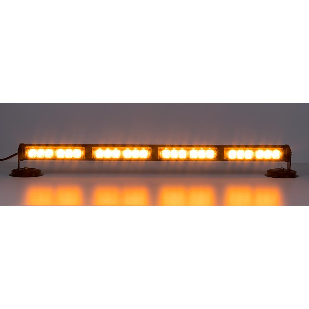 LED světelná alej, 24x 1W LED, oranžová 645mm, ECE R10