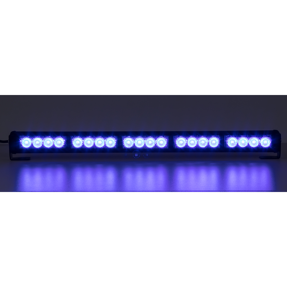 LED světelná alej, 20x LED 3W, modrá 580mm, ECE R10