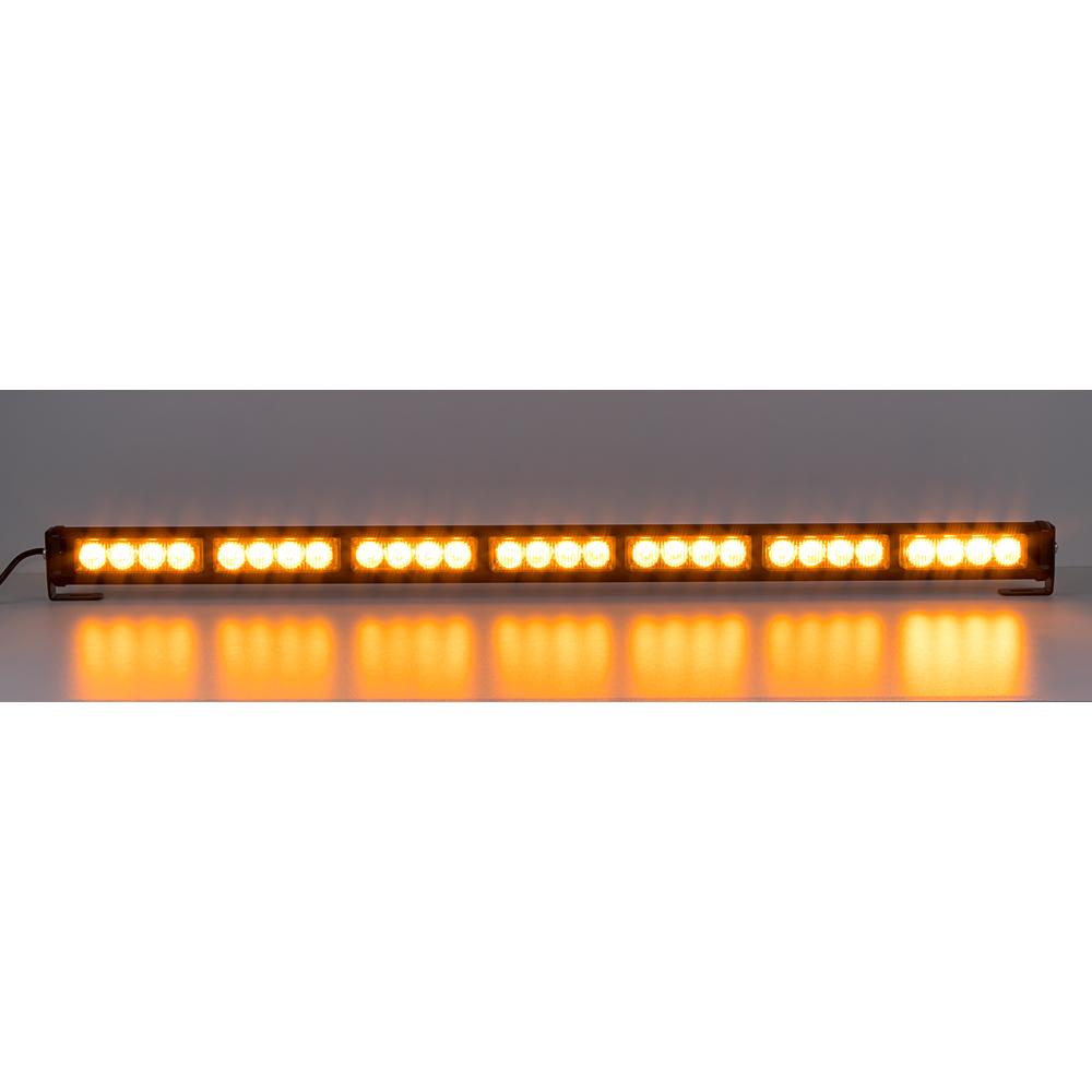 LED světelná alej, 28x LED 3W, oranžová 800mm, ECE R65