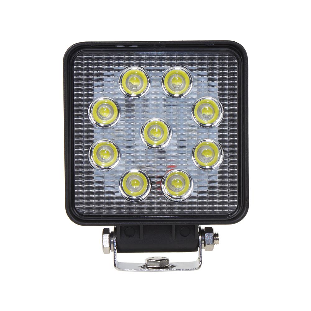 LED světlo hranaté, 9x3W, ECE R10/R23