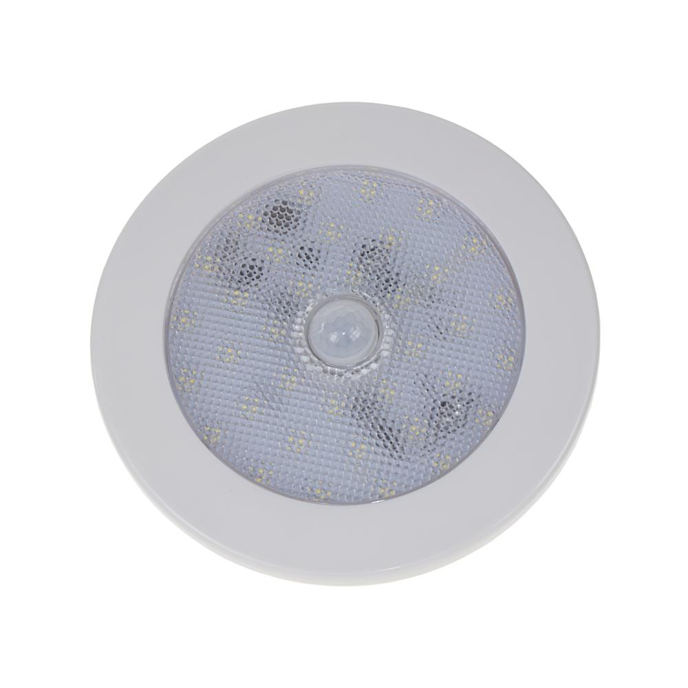 LED osvětlení interiéru, 10-30V, 35LED, pohybový senzor, ECE R10