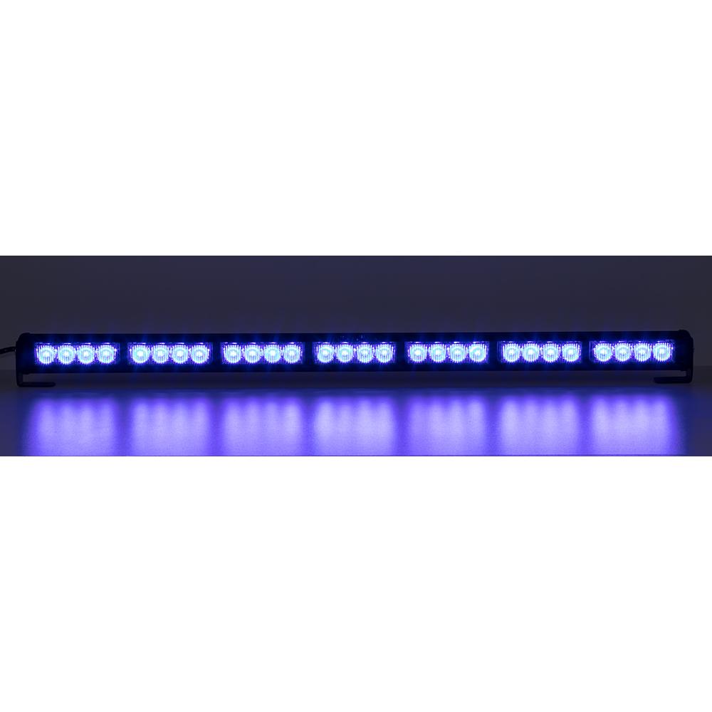 LED světelná alej, 28x LED 3W, modrá 800mm, ECE R10