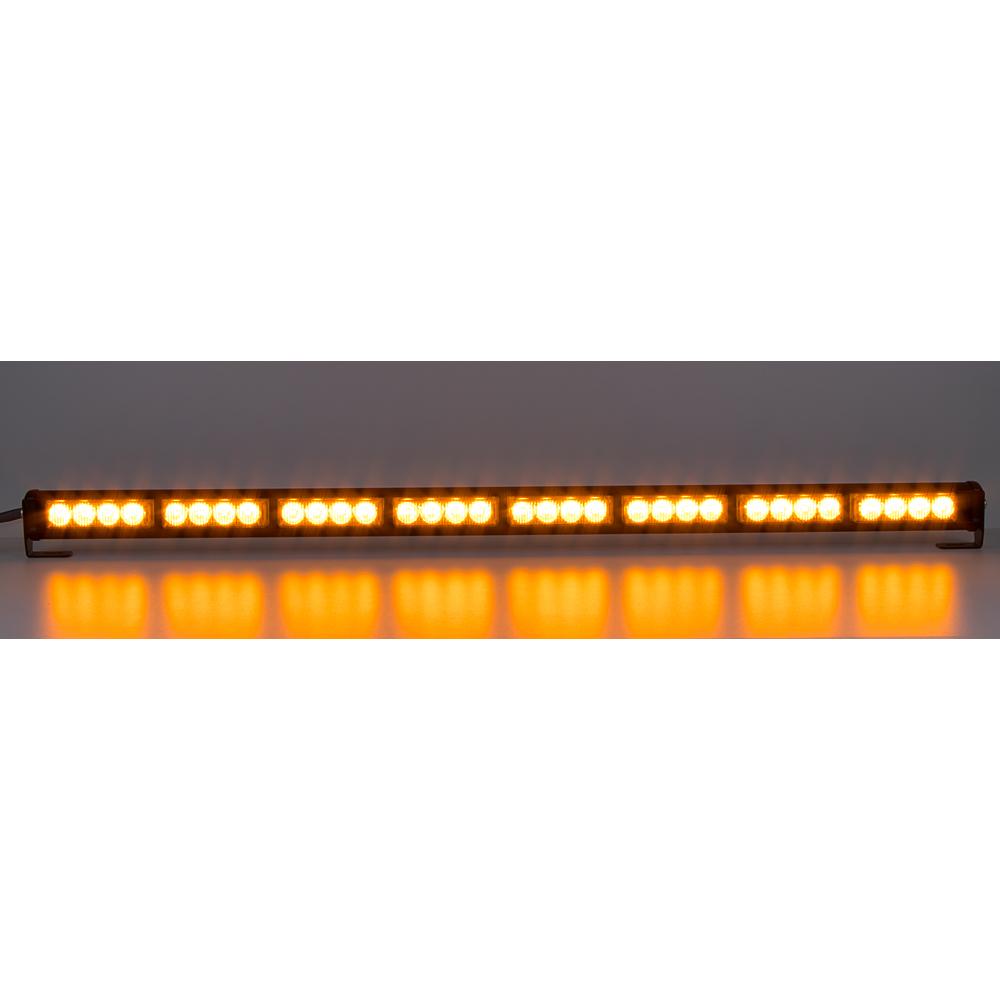 LED světelná alej, 32x 3W LED, oranžová s displejem 910mm, ECE R65
