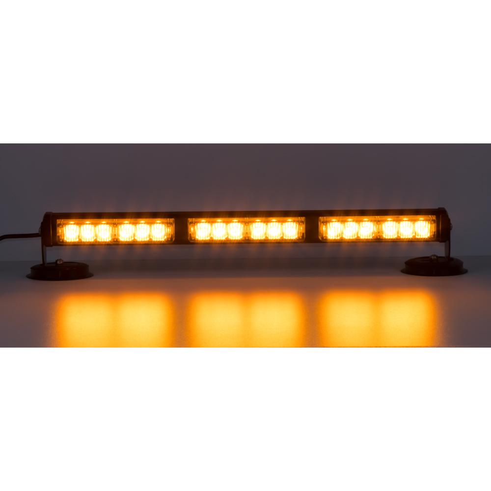 LED světelná alej, 18x LED 1W, oranžová 500mm, ECE R10
