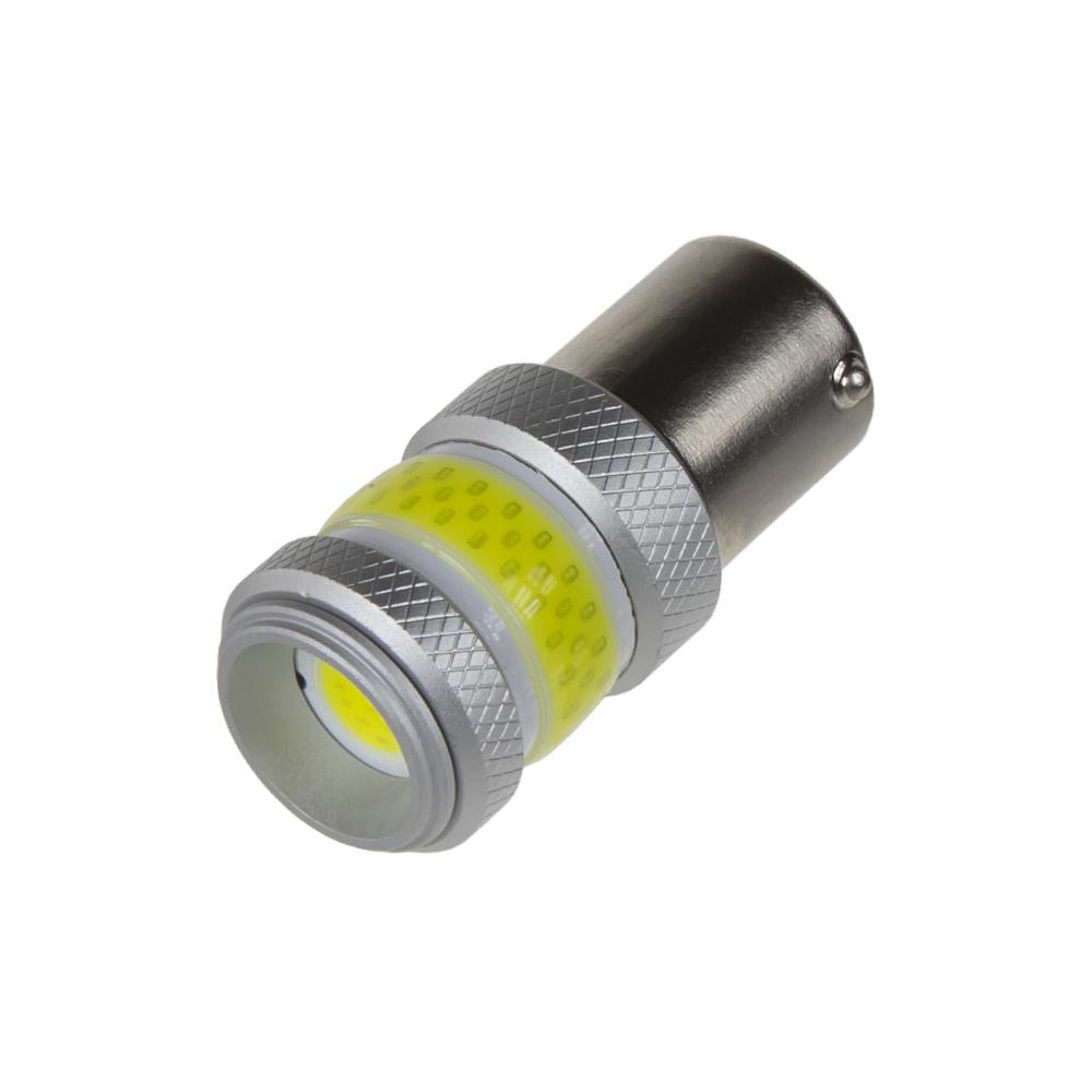 LED BAU15s bílá, COB 360⁰, 9-60V, 12W