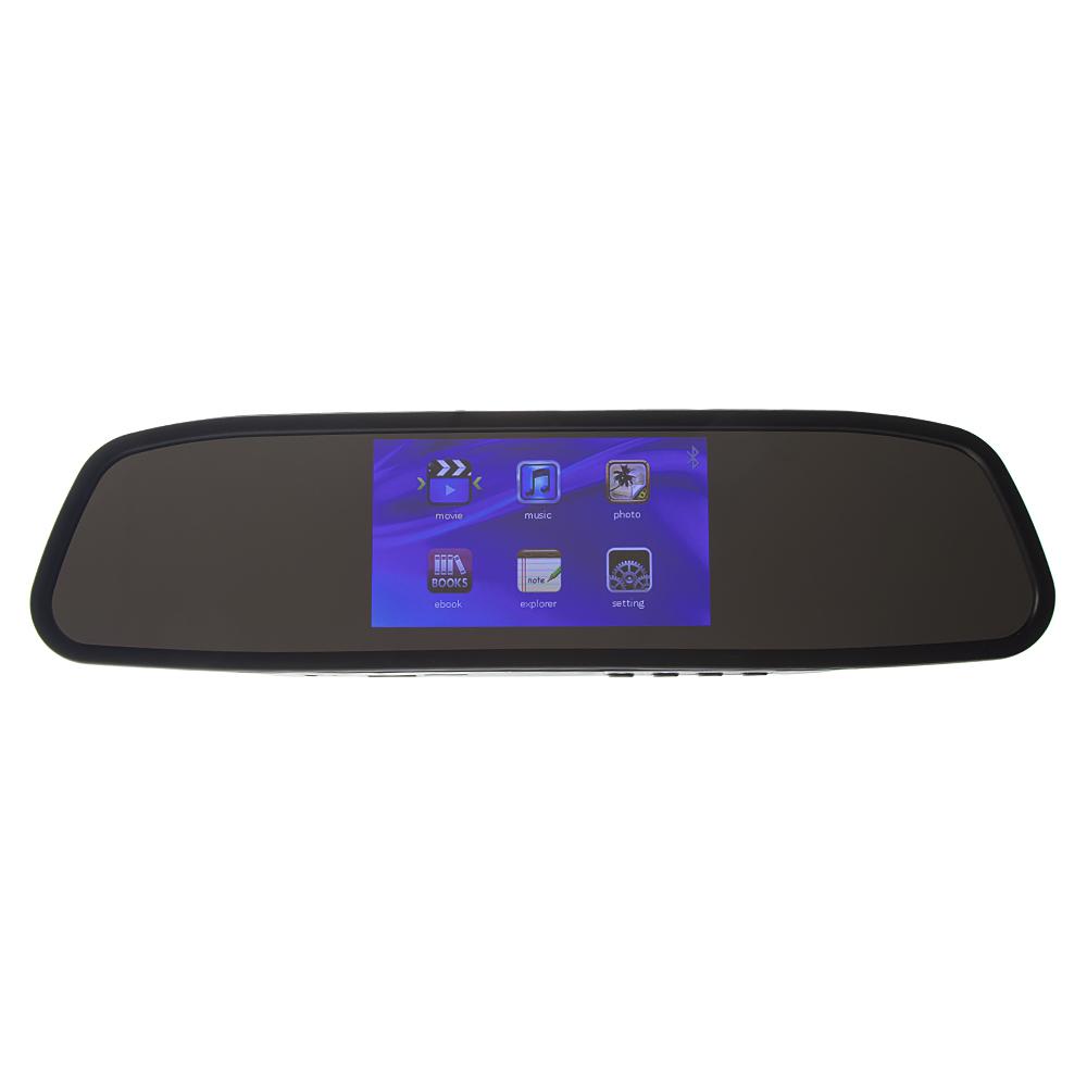 "LCD monitor 4,3"" na zrcátko s microSD/USB/FM modulátor/Bluetooth"
