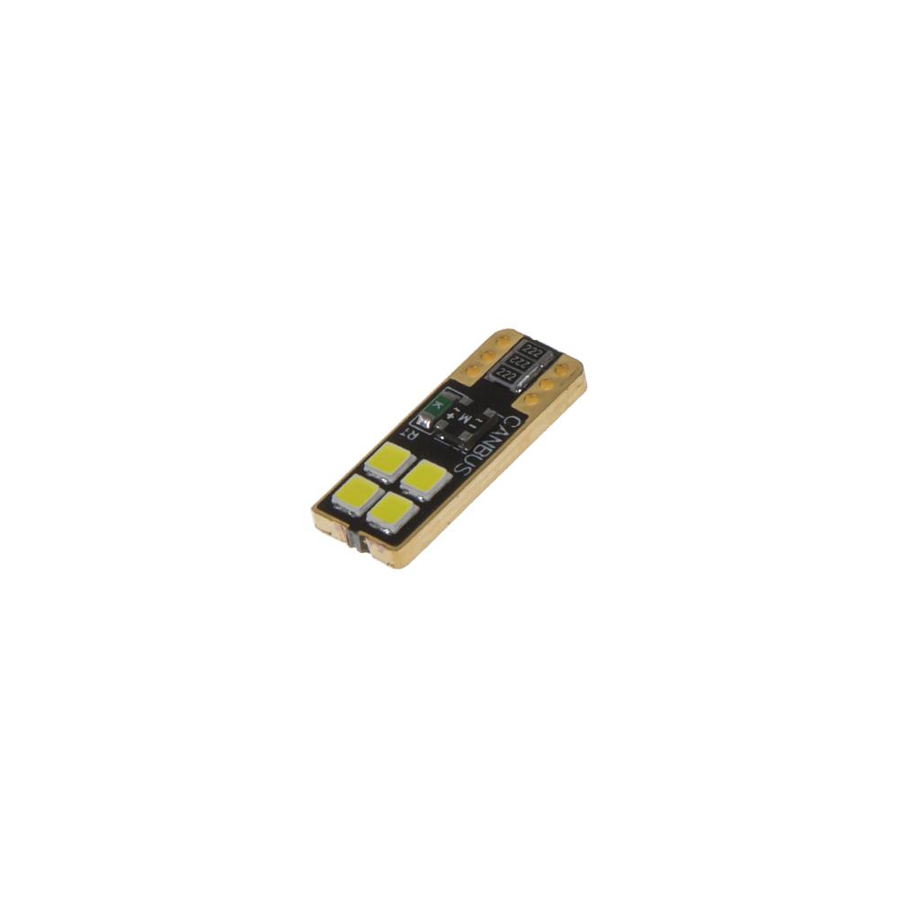 LED T10 bílá, 12/24V, 4LED/3030SMD