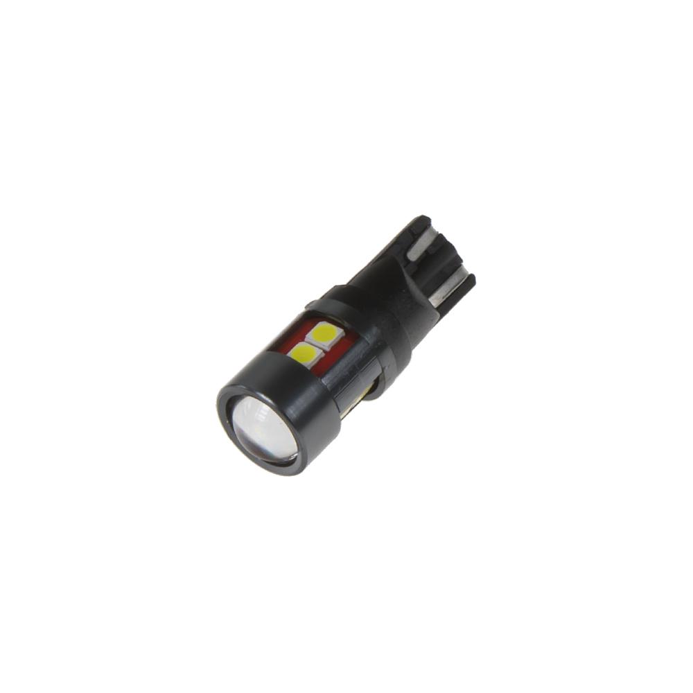 LED T10 bílá, 12/24V, 9LED/2835SMD