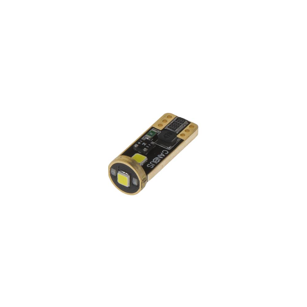 LED T10 bílá, 12V, 3LED/3030SMD