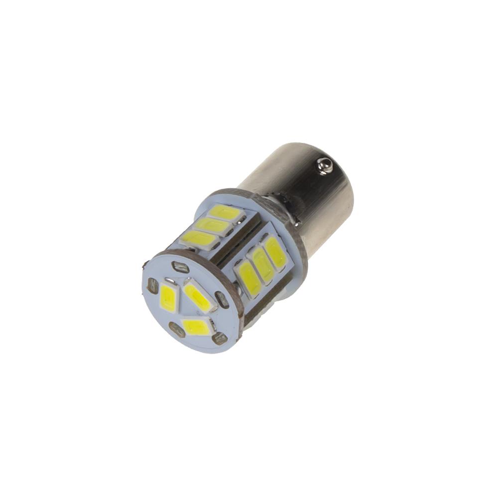 LED BA15s bílá, 24 V, 18LED/5730SMD
