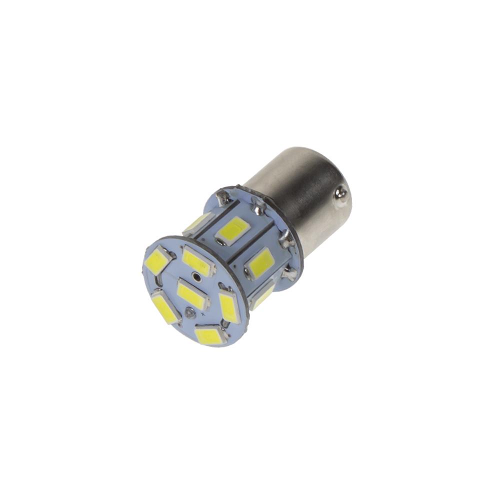 LED BAU15s bílá, 24V, 13LED/5730SMD
