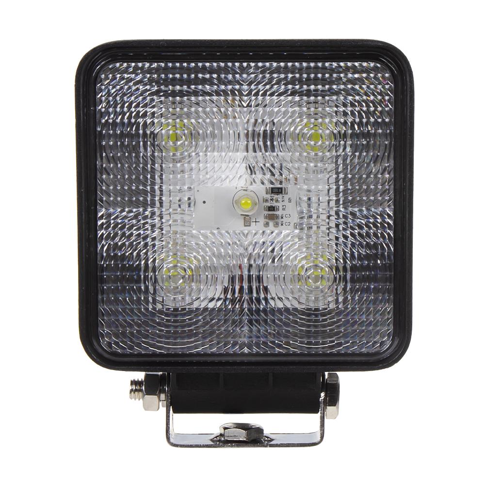 LED světlo čtvercové, 5x3W, 128x110mm, ECE R10