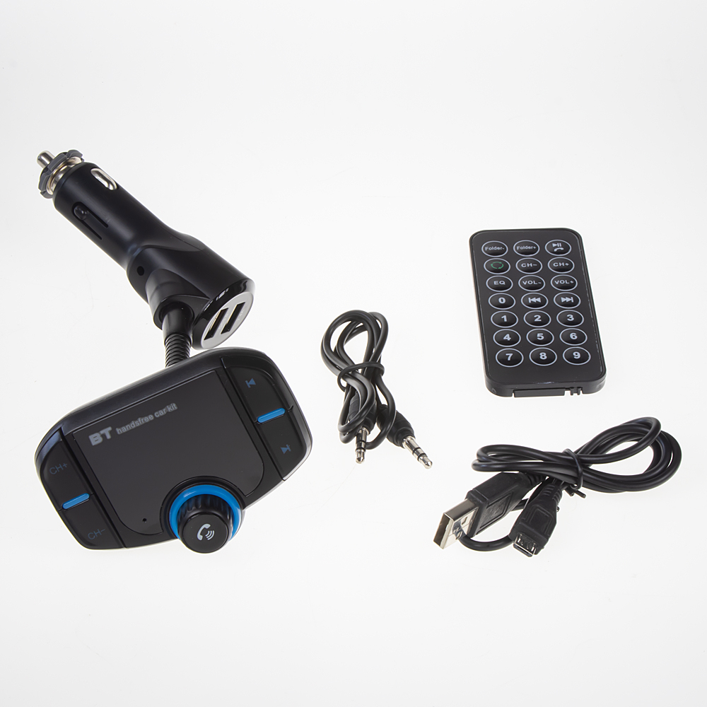 Bluetooth/MP3/FM modulátor bezdrátový s USB/SD portem do CL s dálkovým ovladačem
