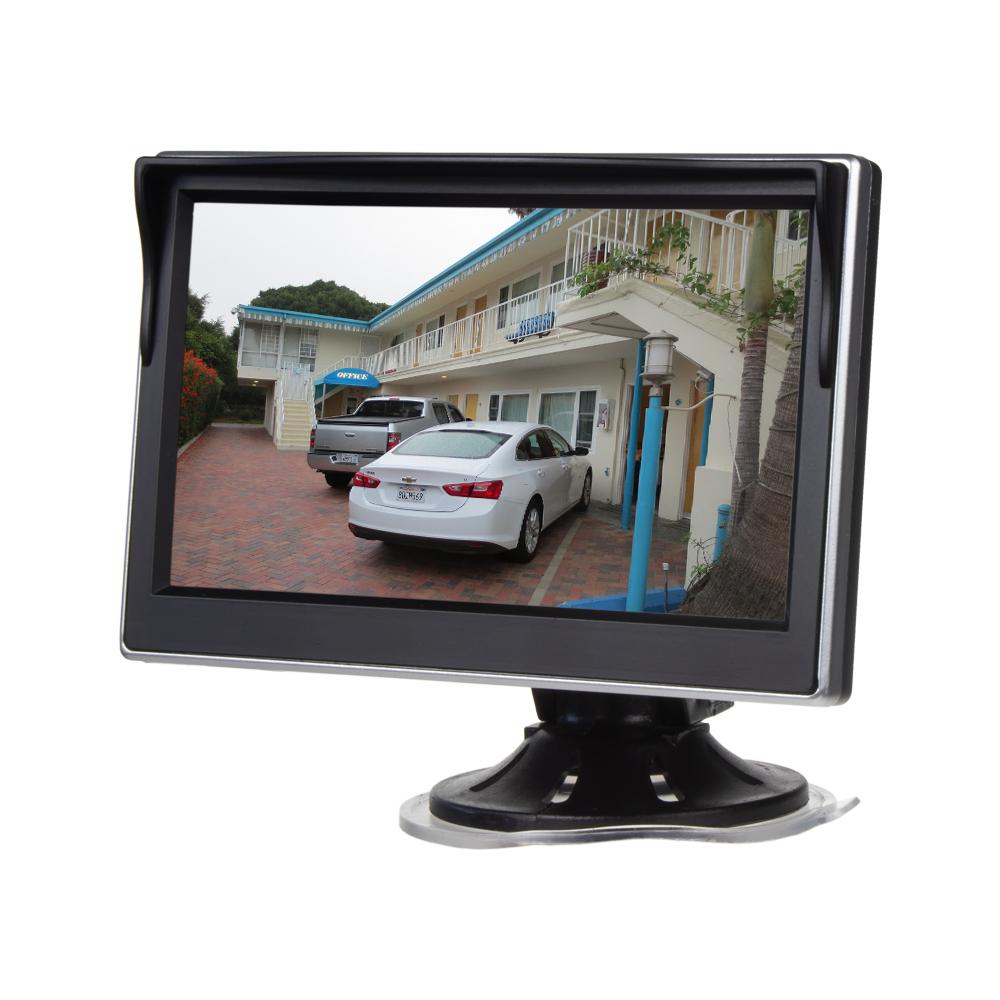 """LCD monitor 5"""" černá/stříbrná s přísavkou s možností instalace na HR držák"""