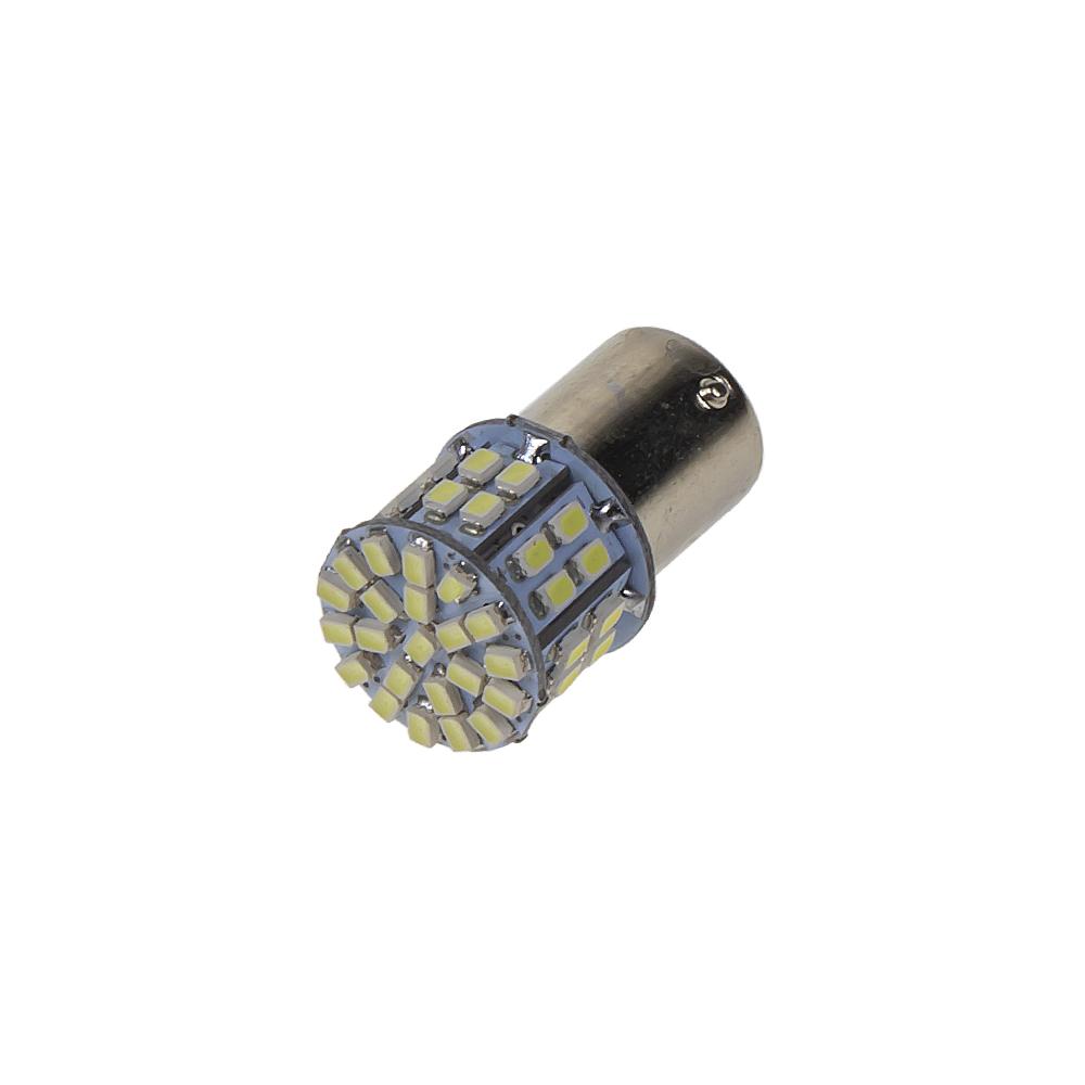 LED BA15s bílá, 12V, 50LED/1206SMD