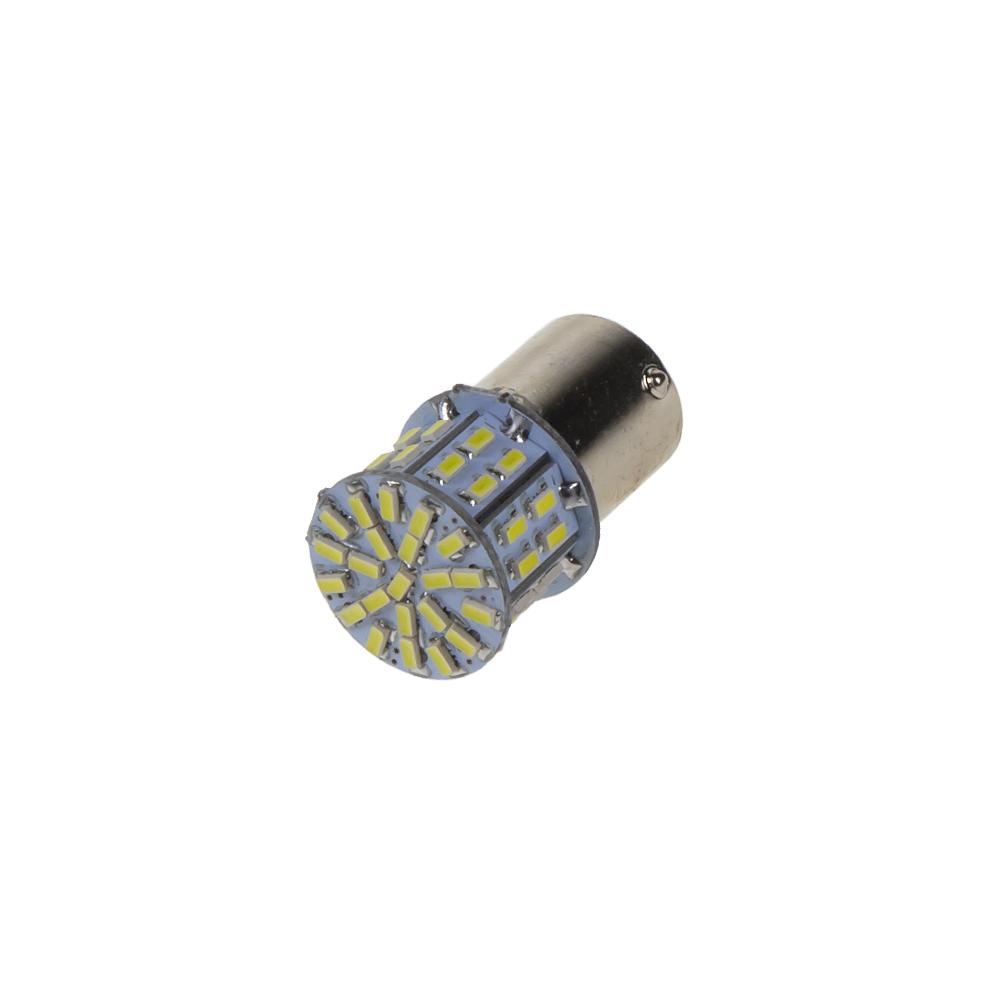 LED BA15s bílá, 12V, 50LED/3014SMD