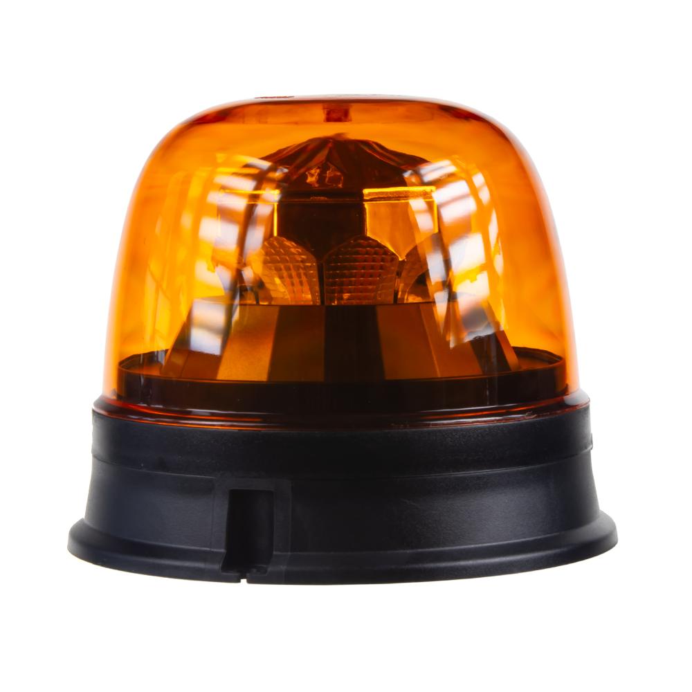 LED maják, 12-24V, 10x1,8W, oranžový, pevná montáž, ECE R65 R10