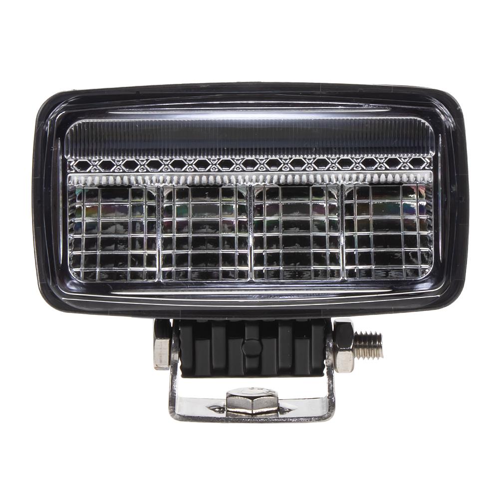 LED světlo obdélníkové s pozičním světlem, 3x7W, 120x113mm