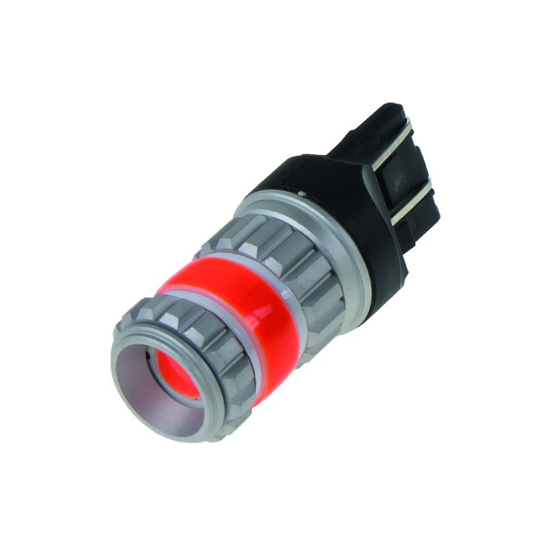 LED T20 (7443) červená, COB 360⁰, 9-60V, 12W